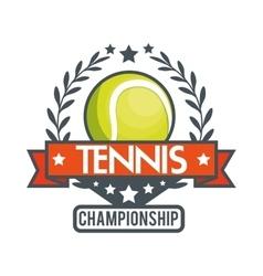 tennis championship ball star banner vector image