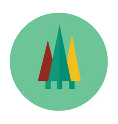 forest flat icon vector image