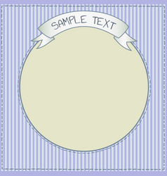 funny blue card or frame template vector image vector image