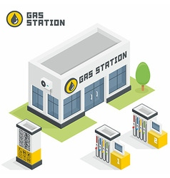 Gas station building vector image