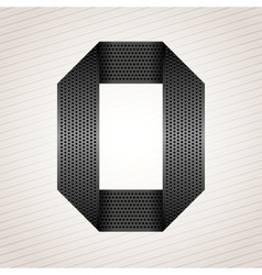 Letter metal ribbon - O vector image vector image