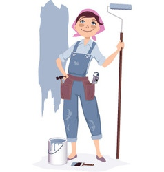 Painting a house vector image