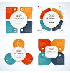 Set of modern minimal infographic design templates vector image vector image