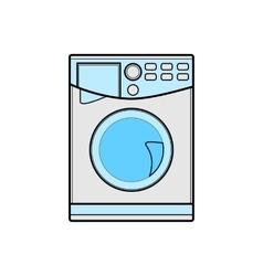 symbol of washing machine color line art vector image vector image