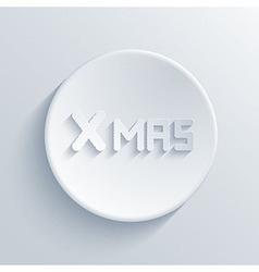 xmas light icon vector image