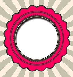 Abstract Paper Circle Retro Background vector image vector image