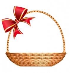 gift basket vector image vector image