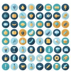 icons flat line all food vector image