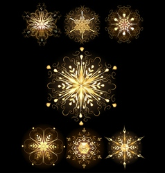 jewelry snowflakes vector image
