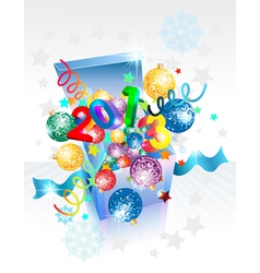 Open explore gift box 2013 vector image