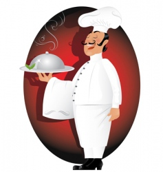professional chef vector image vector image