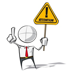 Simple Business People Attention vector image vector image