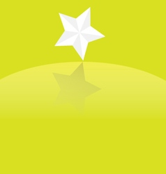 Star with shadow vector image vector image