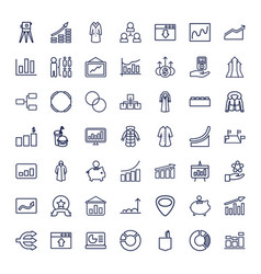 49 infographic icons vector