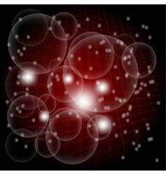 Abstract dark red light grid circle light backgrou vector