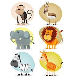 African jungle animals collection vector