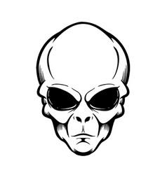 Alien head isolated on white design element vector
