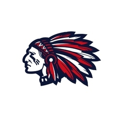 American indian chief logo or icon vector image
