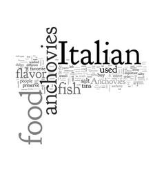 anchovies in italian food vector image
