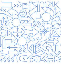 arrow line seamless pattern vector image