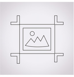 artboard tool icon vector image