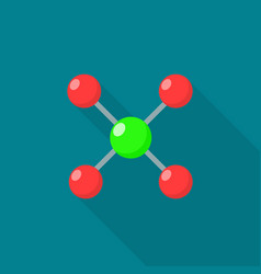 atomic molecule icon flat style vector image