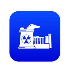 Atomic reactor icon blue vector