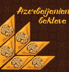 Azerbaijanian baklava vector
