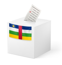 Ballot box with voting paper Central African vector