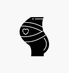belt safety pregnancy pregnant women glyph icon vector image