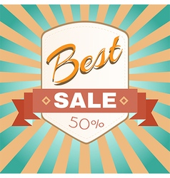 Best Sale Promotion Flyer vector image