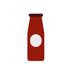 bottle sauce icon vector image