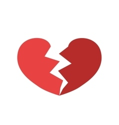 Broken Heart shape icon Love design vector