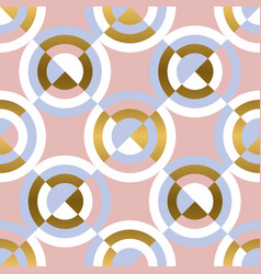 circular geometric shapes seamless pattern vector image