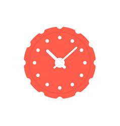 Circular red clock icon vector