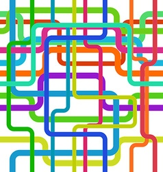 Color lines seamless pattern tangled stripes vector