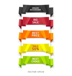Colorful origami number options banner vector image