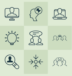 Corporate icons set with business aim great vector