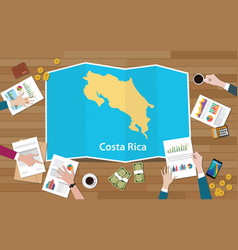 Costa rica economy country growth nation team vector