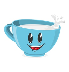 Cute cup of milk vector image
