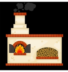 Decorative russian stove vector