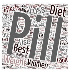 Diet Pills Weight Loss or Cash Lost text vector image