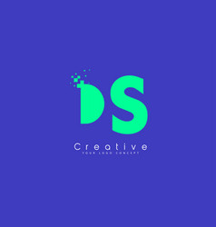 Ds letter logo design with negative space concept vector