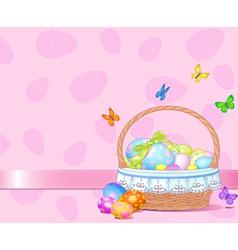 Easter Basket Background vector image