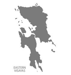 Eastern visayas philippines map grey vector