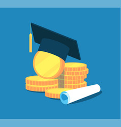 Education money college tuition graduation vector