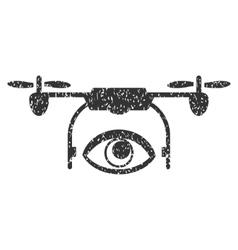 Eye Spy Drone Grainy Texture Icon vector image