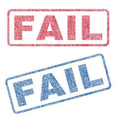 Fail textile stamps vector
