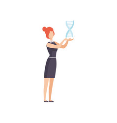 female geneticist character young woman working vector image