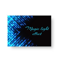 festive greeting card with neon light vector image